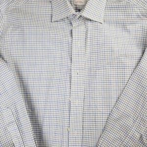 Brooks Brothers Shirts - Brooks Brothers 346 Light Blue Plaid Dress Shirt